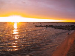 Beautiful Lake Huron sunset
